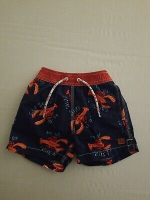 4508316a21 Baby Gap Boys Swim Trunks Shorts Bathing Suit 12-18 Months Lobster Blue Red