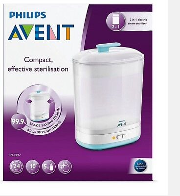 Philips Advent 2 In 1 Electric Steam Sterilliser Brand New Essential For Newborn
