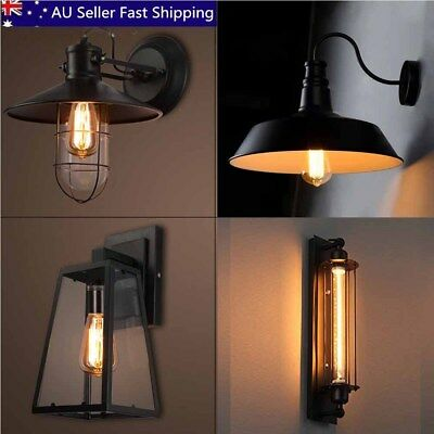 Outdoor / Indoor Vintage Industrial Wall Sconces Lantern Lamp Porch Yard Light