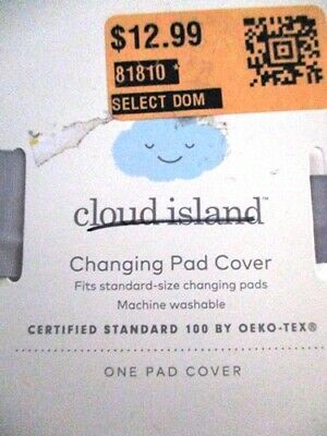 Cloud Island Infant Changing Table Pad Cover in 100% Cotton White NEW Open FS