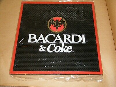 Bacardi Large Bar Spill Mat 17 x 17 New in Plastic   # 21909
