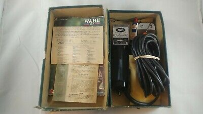 Vintage Oster A5 Detachable Blade Small Animal Clipper Groomer w/ Box & Spare