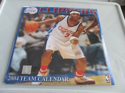 Los Angeles Clippers 2004 Team Calendar 12 Month New Unopened Collectible