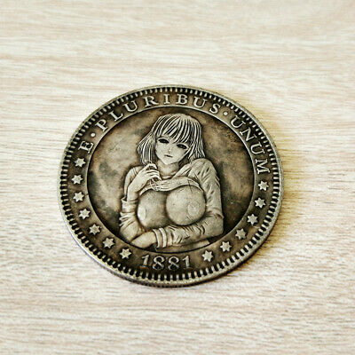 1881 US Morgan Silver Foreign Currency Coin Commemorative Collection Naked Girl