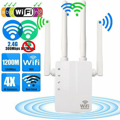 300Mbps/1200Mbps Dual Band Wireless Range Extender WiFi Repeater Signal Booster