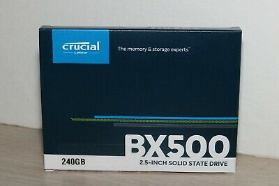 Crucial BX500 240GB 3D NAND SATA 2.5-inch SSD - CT240BX500SSD1 - New, Sealed