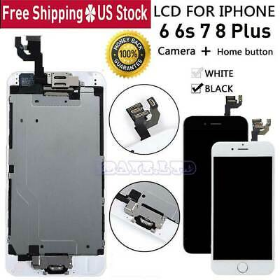 For iPhone 6S 6 7 8 Plus X LCD Touch Screen Full Replacement With Button &Camera