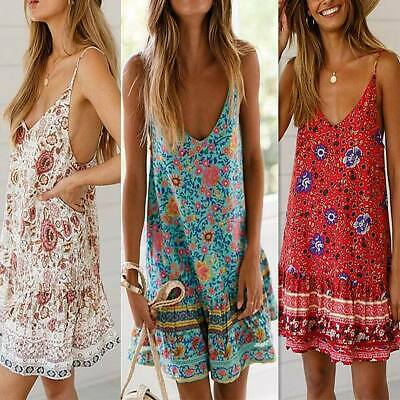 Maxi boho party summer party short floral evening cocktail Women's sundress