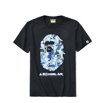 BAPE summer new print round neck casual T-shirt casual loose short sleeve