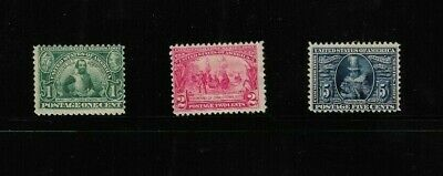 USA stamps Jamestown exposition 1907 set faults
