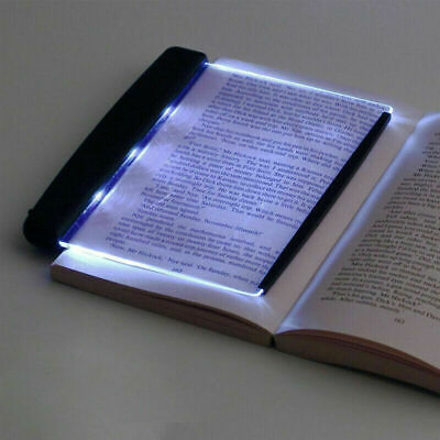 LED Light Wedge Eyes Protect Panel Book Reading Lamp Paperback Night Vision Top