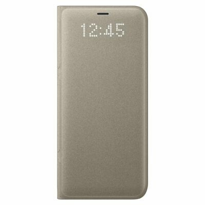 Genuine Official Samsung Galaxy S8 LED View Wallet Flip Folio Cover Case Gold