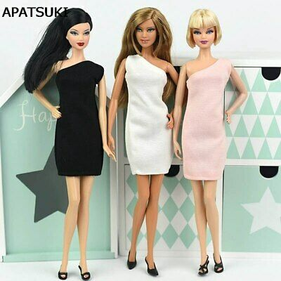 One Shoulder Fashion Dress For 1/6 Doll Evening Dresses Clothes For 11.5in Doll