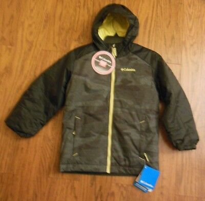 641459e21 NWT Columbia Youth Boys Snowpocalyptic Thermal Coil Jacket Sz XS MSRP $105