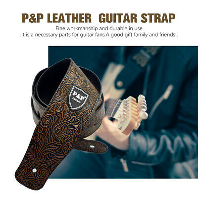 Classic Luxury Soft PU Leather Guitar Acoustic, Electric, Basses Guitar Strap IM