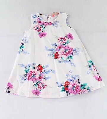 60bd6781d Joules NEW White Baby Girls' Size 18-24 Months Floral-Print Dress $49