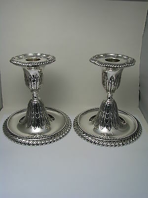 A PAIR of SOLID STERLING SILVER CANDLESTICKS CANDLE HOLDERS by Gorham 1887 Rare!