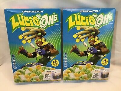 20 Oz Kellogg's Overwatch Lucio Oh's Vanilla Cereal, Two (2) 10 Oz Boxes, New