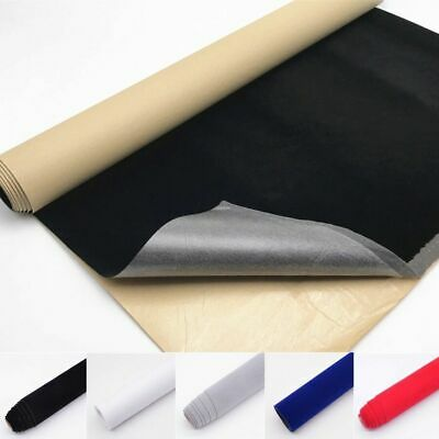 2/5 Metres Roll Self Adhesive Sticky Back Velvet Felt Fabric Jewelry Wallpaper