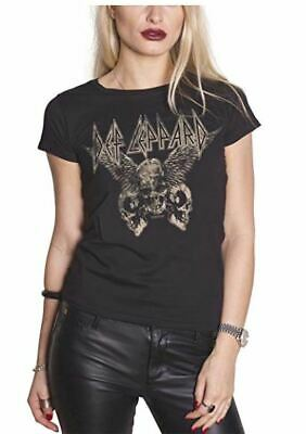 Def Leppard Womens//Ladies Acid Wash T-Shirt NS4752