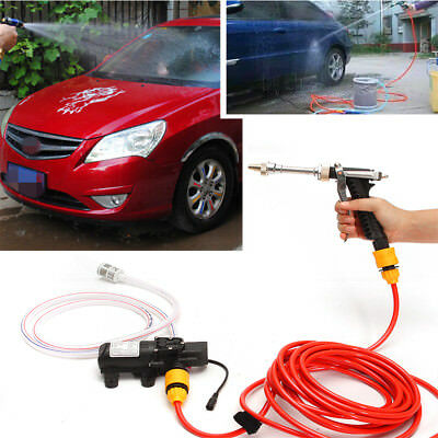 Portable 12V Car High Pressure Washer Water Pump Kit Jet Wash Cleaner Hose