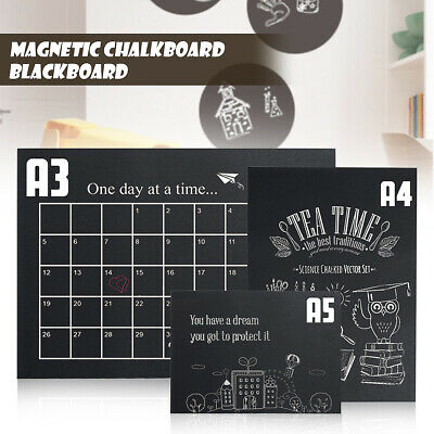 A3 A4 A5 Blackboard Magnetic Menu Chalk Board Office Notice Small-Large New
