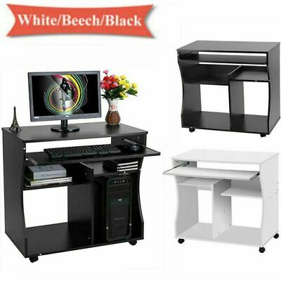 Compact Small Computer Desk Pc Laptop Table Desktop Home Study Gaming W Shelves 59 94 Picclick Uk