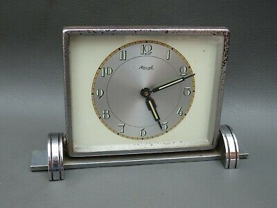 Vintage Art Deco chrome Kienzle alarm clock for restoration