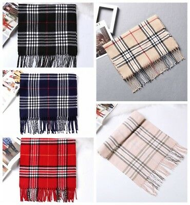 Soft Touch Plaid Tartan Women Ladies Winter Warm Scarf Shawl Stole Wrap Gift AU