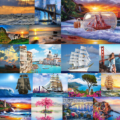 40x50cm Sea Scenery On DIY Oil Painting Wall Acrylic Kit Decor Paint By Number