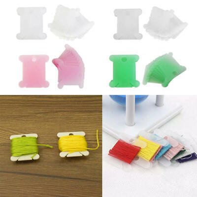 100X Thread Bobbins Cross Stitch Embroidery Floss Craft Holders Organiser fdg