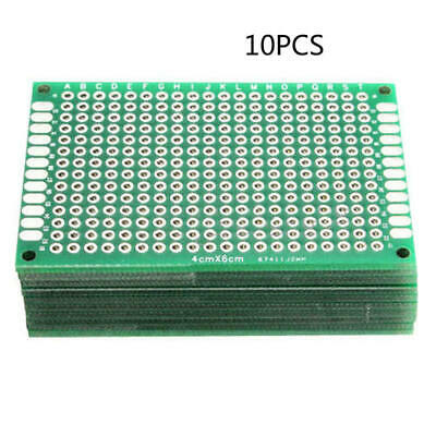 10pcs Double Side Prototype FR4 PCB Tinned Universal Board 6 * 4 * 0.12 cm fgd