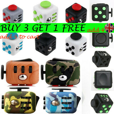 Fidget Cube Spinner Toy Gifts Kid Desk Adults Stress Relief Cubes ADHD UK StockD