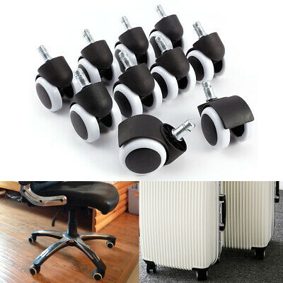 10X Office Chair Swivel Castors Casters Wheels Replacement Rubber Grip Ring