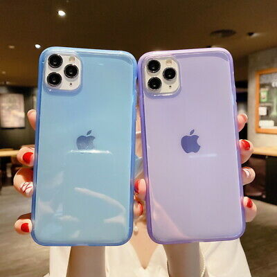 For iPhone XS Max XR X 8 7 Plus 6S 6 Shockproof Transparent Silicone Case Cover