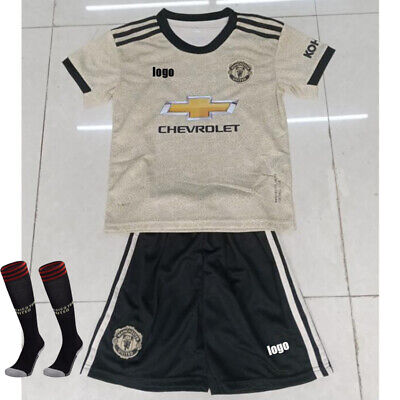 UK NEW 2020 Soccer Boys Adult Football Club Kids Kit Strips Youth uniforms Suit