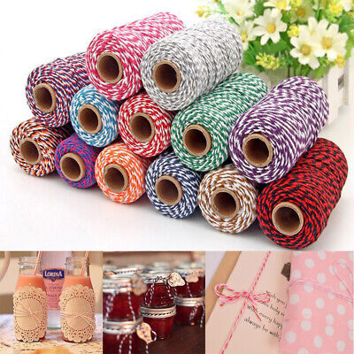 100m Cotton Baker's Twine Rope String Cord Gifts Wrapping Packaging Rope