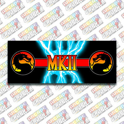 Arcade1up Mortal Kombat 2 Control Panel Filler Graphic Decal Artwork Kit