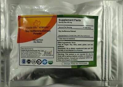 Soy Isoflavone 40% Extract Powder Women Health Menopause Support Heart Health