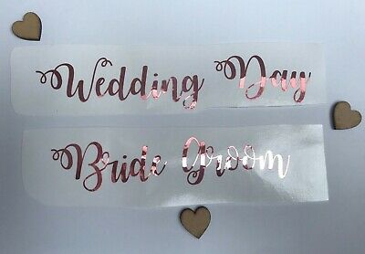 Rose Gold Custom Name Vinyl Sticker Decal 3cm Height Personalised Name Wedding