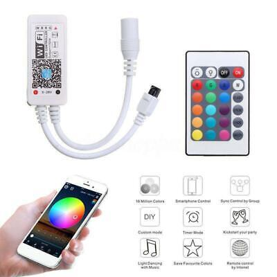 Mini Wifi LED Controller+ IR Remote For RGB/RGBW LED Strip Phone Light Lamp New