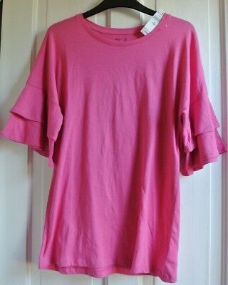 New Gap 100% cotton Girls top Pink  age 13 years