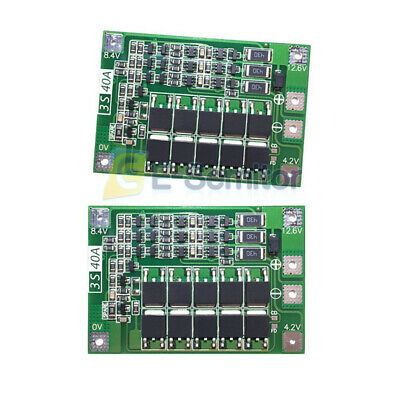 3S 40A BMS Protection Board 18650 Lithium Battery 11.1V 12.6V for Drill Motor