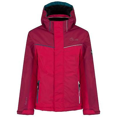 DARE 2B Girls Remarked Waterproof Padded Ski Jacket  Pink RRP £80.00