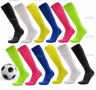 2 Pairs Men's Kids Boys Football Socks Rugby Breathable Soccer Running Sports