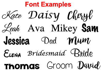 5CM! Personalised Vinyl Name Sticker Decal for gifts, crafts glass wedding