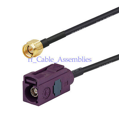 6m Extension cable Fakra D Female to SMA male for roof mounted car GSM aerial