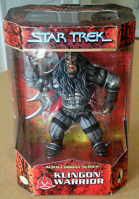 "Star Trek Alien Combat Series 9"" Klingon Warrior Figure Playmates MIB 1999"