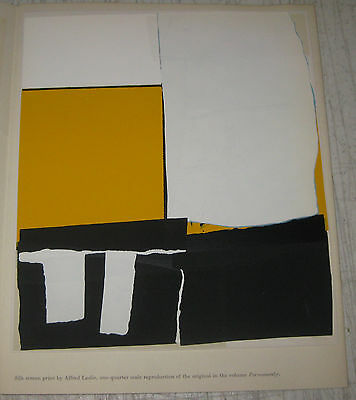 """ALFRED LESLIE Tiber Press ABSTRACT EXPRESSIONIST Silkscreen from """"Permanently"""""""