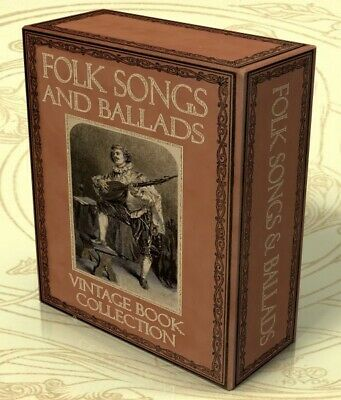 FOLK SONGS & BALLADS 109 Vintage Books on DVD, Traditional Music, Sheet Music,